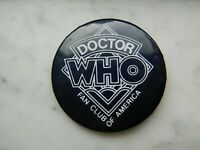 "Doctor Who Fan Club Of America Pin 2"" Pinback Button Color Mood Changing"