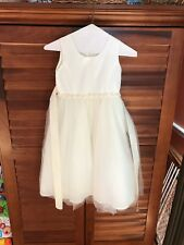 ivory flower girl dress size 6