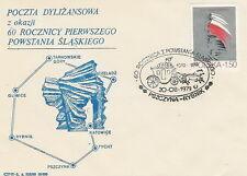 Poland postmark PSZCZYNA - Silesian Uprising stagecoach horse (analogous)