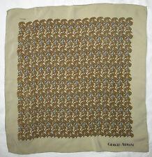 Foulard  tour de cou GIORGIO ARMANI   100% soie  50cm x 50cm TBEG  vintage scarf