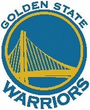 Counted Cross Stitch Pattern, Golden State Warriors Logo - Free US Shipping