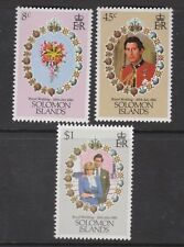 1981 Royal Wedding Charles & Diana MNH Stamp Set Solomon Islands SG 445-447