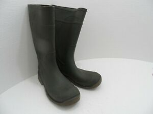 Made in Canada Pull On Mid Calf Rubber Boots Dark Army Green - Men's Size 13