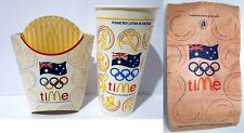 McDonald's 2000 Sydney OLYMPICS / OLYMPIC GAMES - Empty Bag / Cup & Chip Pack [b