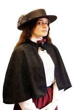 Victoriano Eduardiano// Negro Steampunk capa y sombrero de fantasía Vestido Talla Única