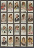 1903 Taddy Royalty Series Tobacco Cards Near Set of 24/25