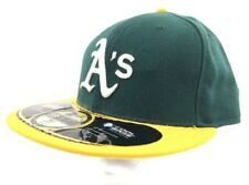 Oakland A's MLB Authentic New Era 59FIFTY Fitted Cap 5950 Hat   Size 7 5/8