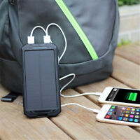 Waterproof 300000mAh Portable Solar Charger Dual USB Battery Power Bank Case Kit