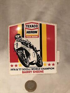 Vintage Barry Sheen 1976 & 77 Heron Sticker Original