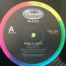 """W.A.S.P. –  Blind In Texas   1985  UK Vinyl 12""""  2CL 374     MINT    UNPLAYED"""
