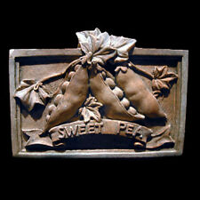 Sweet Pea Decorative Wall Relief Sculpture Plaque
