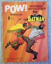 BATMAN, POW!, ROBIN STRIKES FOR BATMAN, COLORING BOOK, WATKINS-STRATHMORE, 1966