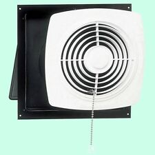 "KITCHEN EXHAUST FAN 10"" Pull Chain White Wall Ventilation Laundry Room Workshop"