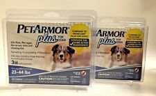 (New) PetArmor Plus for Dogs 23-44 lbs - Flea and Tick Squeeze-On, 6 count total