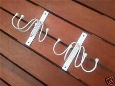 2x Iron Towel / Coat / Key / Umbrella Hook Hanger 112013 WHT