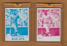 JOHN MAYBERRY 1979 Topps Baseball Proof Cards    Blue Jays Spokane Indians  #1/1