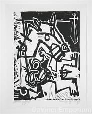 Mark T. Smith Fallen Rider Linocut Block Print Hand Signed Numbered Ltd Ed