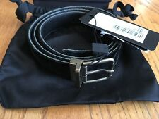 """Dolce & Gabbana Mens Black Suede Leather Reversible Belt Italy 105cm 42"""" -2 in 1"""