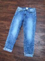 L'Agence Womens Slim Leg High Rise Medium Wash Jeans Blue Cotton Size 25