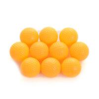 10pcs Yellow Plastic Elastic Golf Practice Balls Training Aid ot