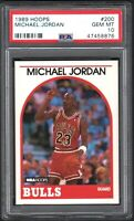 1989 Hoops #200 Michael Jordan PSA 10 GEM MINT