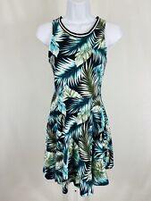 Pink Victoria's Secret Size Medium Dress A-Line Sleeveless Green Tropical
