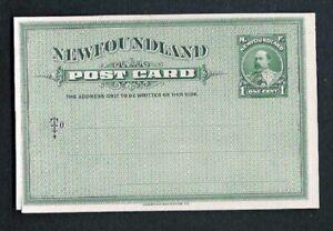 Newfoundland #P 7-P1 Postal Card Proof on India Card XF circa 1905 CAT VAL $750