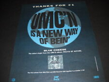 UMC'S Blue Cheese is new single from Fruits Of Nature 1991 PROMO POSTER AD mint