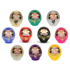 "SET of 10 Japanese 3.75""H Daruma Doll Wish Making for Good Luck Made in Japan"