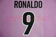Ronaldo #9 1998-1999 Inter Milan Awaykit Nameset Printing