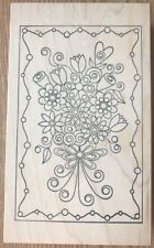 Outlines Rubber Stamp Flower Bouquet Anniversary Birthday Special Occasion