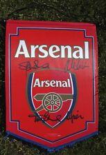 """Arsenal célèbre quatre-Bould, Dixon, Winterburn, Adams. signé Pennant 16"""" x 12"""""""