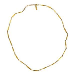 Nikken Vintage Gold Plated/Gold Toned Signed Diamond Cut Magnetic Necklace