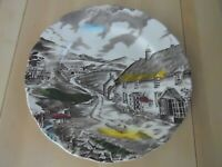 Vintage Quiet Day by W.H. Grindley Staffordshire Plate