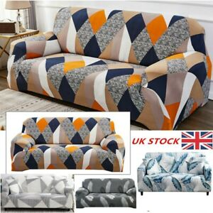 1/2/3 Seater Floral Soft Sofa Couch Covers Elastic Stretch Slipcover Protector