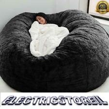 COVER Giant Bean Bag Chair Big Sofa Portable Living Room 7ft foam portable fur