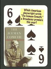 Eugene O'Neill Playwright Author The Iceman Cometh Neat Playing Card #6Y4