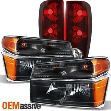 Fit 04-12 Chevy Colorado Gmc Canyon Black Headlights + Tail Lights 2004-2012 (Fits: Gmc)