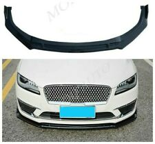 Glossy black Front Bumper Lip Cover Trim 3PCS Fit For Lincoln MKZ 2017 19-2020