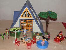 playmobil maison de plage avec mobilier et personnages
