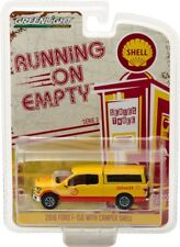 GREENLIGHT 1:64 RUNNING ON EMPTY 2016 FORD F-150 WITH CAMPER SHELL OIL 41030-E