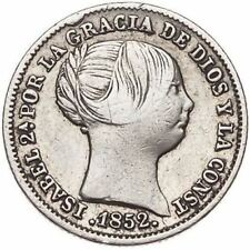 ESPAÑA SPAIN 1852 ISABEL II. 1 REAL MADRID. PLATA SILVER - MBC