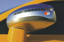 4x Audi S-line Aufkleber für Rückspiegel Logo Simbol Audi und alles ande A1 A2..