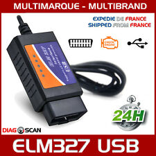Câble Interface ELM 327 OBD2 II USB V1.5 Diagnostique Auto Multimarques + CD