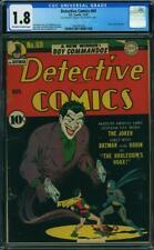DETECTIVE COMICS #69  Classic Joker Cover!  CGC 1.8 Golden Age