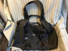 Black Puma Nylon Gym Bag