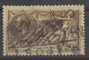 Great Britain, Used, SG 407, Scott 173a, 1915, 2sh 6d, Light Brown, SCV £280