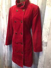 Per Una Red Military Cord Jacket Coat Size 12
