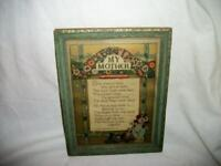 ART DECO MOTHER MOTTO 1920's WOOD FRAME JOHN IRVING PEARCE GREAT GRAPHICS