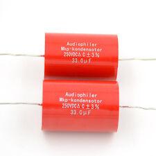 10pcs 33UF 250V Audiophiler MKP-kondensotor MKP Tubular Audio Coupling Capacitor